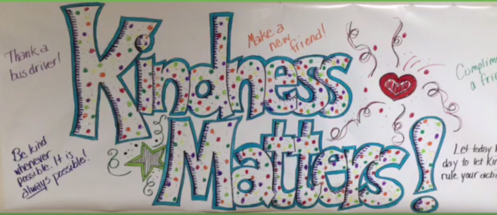 Slide show of Orchards celebrating kindness week
